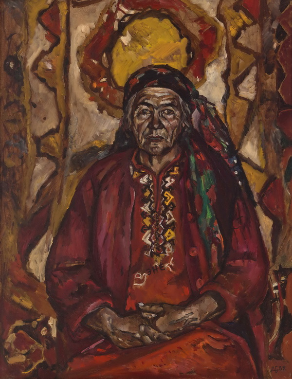 Medium: Oil on linen, Size: 45.6x35 in, Year of Creation:1989, Place of Origin: Turkmenistan